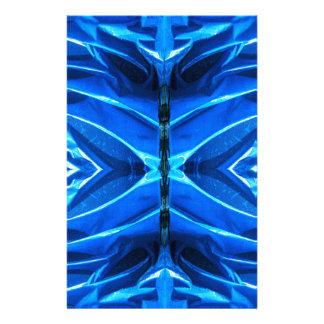 Aletas azules de la llamarada  papeleria de diseño