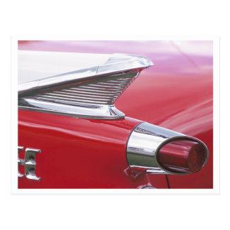 Aletas del vintage y foto clásica del coche del cr postales