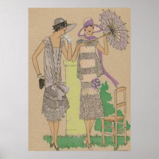 Aletas elegantes de la primavera, señoras de los póster