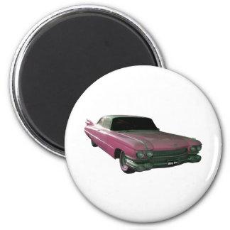 Aletas rosadas grandes 1959 de Caddilac Iman Para Frigorífico