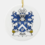 Aleth Family Crest Christmas Ornaments