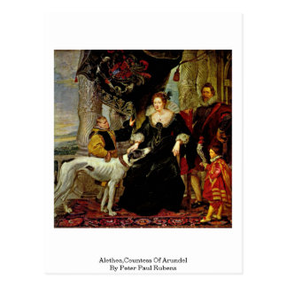 Alethea, condesa de Arundel de Peter Paul Rubens Postal