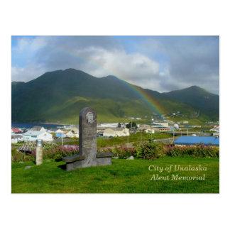 Aleut Memorial in Unalaska City Postcard