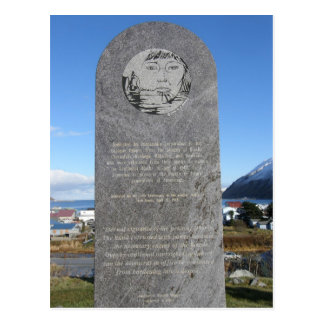 Aleut Relocation Memorial, Unalaska Island Post Card