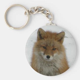 Aleutian Fox Basic Round Button Keychain
