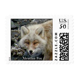 Aleutian Fox on Unalaska Island Postage