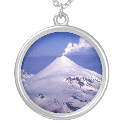 Aleutian Island Volcanoe Custom Necklace