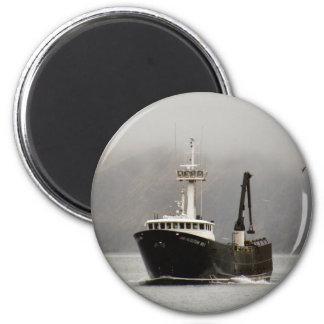 Aleutian No. 1, Crab Boat in Dutch Harbor, Alaska 2 Inch Round Magnet