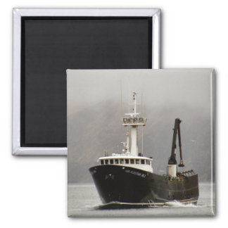 Aleutian No. 1, Crab Boat in Dutch Harbor, Alaska 2 Inch Square Magnet