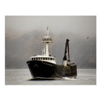 Aleutian No. 1, Crab Boat in Dutch Harbor, Alaska Postcard