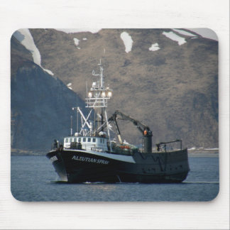 Aleutian Spray, Crab Boat in Dutch Harbor, AK Mouse Pads
