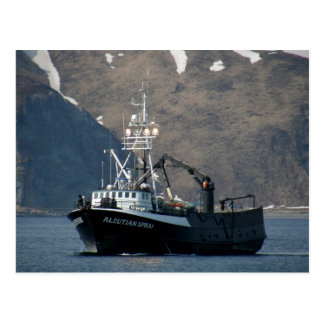 Aleutian Spray, Crab Boat in Dutch Harbor, AK Postcard