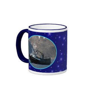 Aleutian Spray, Crab Boat in Dutch Harbor, Alaska Ringer Mug