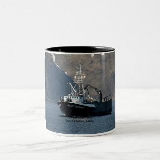 Aleutian Spray, Crab Boat in Dutch Harbor, Alaska Two-Tone Coffee Mug