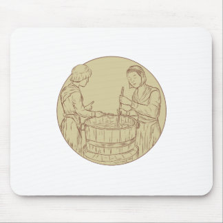 Alewife Brewing Beer Drawing Mouse Pad