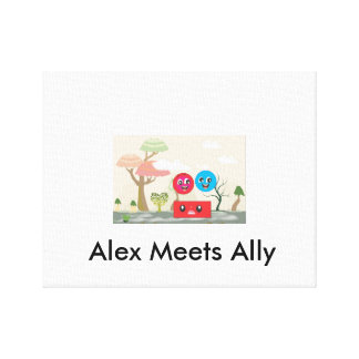 Alex And Ally beating monster. Canvas Print