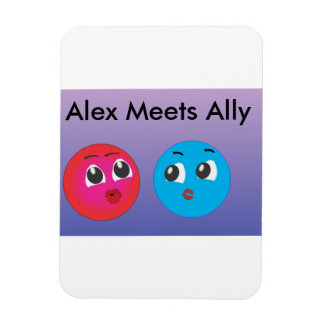 Alex And Ally Cute Smiley Photo. Rectangle Magnets