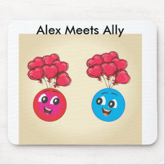 Alex And Ally Flying With Ballons Mouse Pad