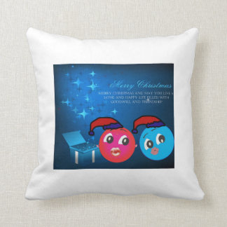 Alex And Ally Wishing Happy New Year 2015 Throw Pillow