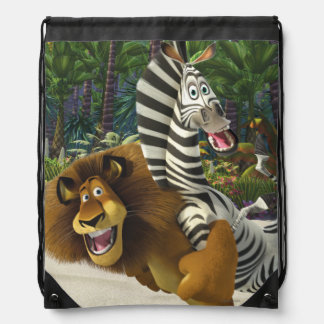 Alex and Marty Playful Drawstring Backpack