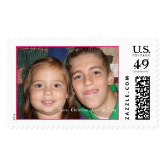 Alex and Zoey, Merry Christmas, Alex & Zoey Postage Stamp