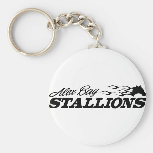 Alex Bay Stallions Logo Key Chains