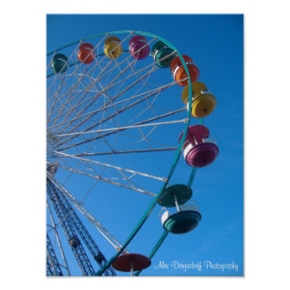 Alex Dergacheff Photography, ferris wheel Poster