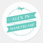 Alex en los pegatinas de Wanderland Pegatina Redonda
