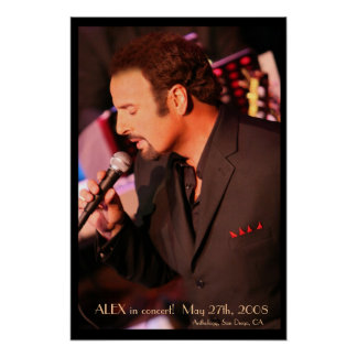 ALEX in concert! Poster - Customized