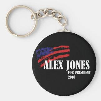 Alex Jones for President 2016 Basic Round Button Keychain