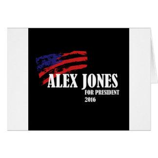 Alex Jones for President 2016 Card