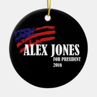 Alex Jones for President 2016 Ceramic Ornament