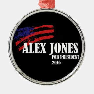 Alex Jones for President 2016 Metal Ornament