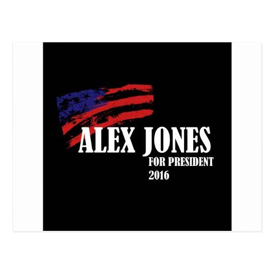 Alex Jones for President 2016 Postcard