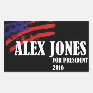 Alex Jones for President 2016 Rectangular Sticker