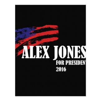 Alex Jones para el presidente 2016 Plantillas De Membrete