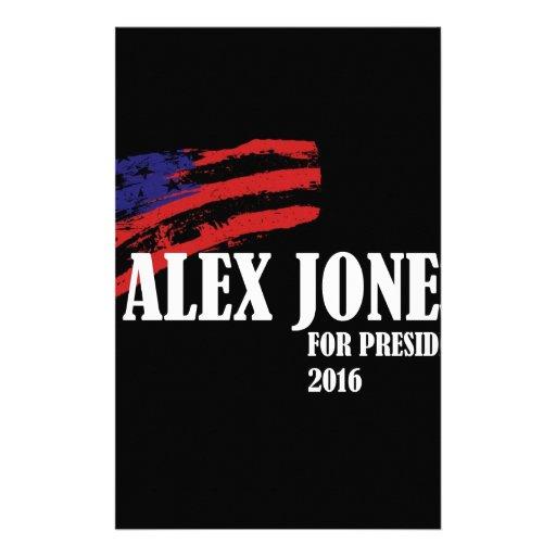 Alex Jones para el presidente 2016 Papeleria