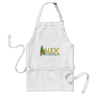 Alex la mercancía del cocodrilo delantal
