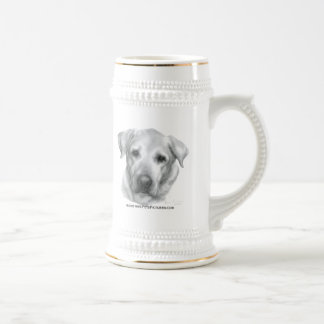 Alex, labrador retriever amarillo taza