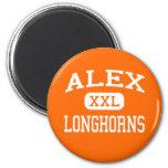 Alex - Longhorns - High School - Alex Oklahoma Fridge Magnet
