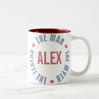 Alex Man Myth Legend Customizable Two-Tone Coffee Mug