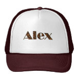 ALEX Name-Branded Personalised Fashion Cap Mesh Hats