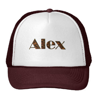ALEX Name-Branded Personalised Fashion Cap Trucker Hat