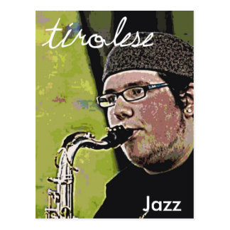 Alex on the Sax Postcard