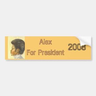 Alex para el presidente, 2008 pegatina para auto