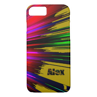 Alex Red and Green Highlights iPhone case