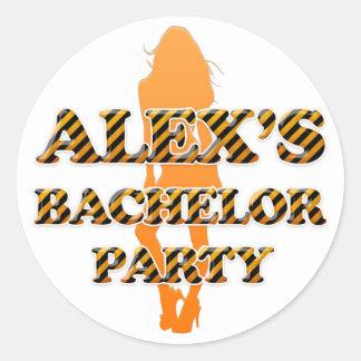 Alex s Bachelor Party Stickers