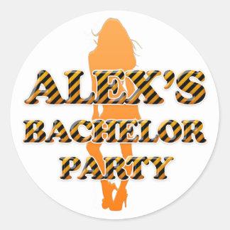 Alex s Bachelor Party Sticker