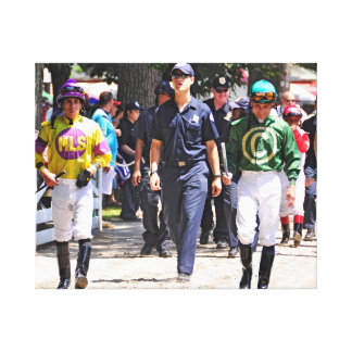 Alex Solis & Irad Ortiz Jr. - World Class Jockey Canvas Print
