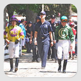 Alex Solis & Irad Ortiz Jr. - World Class Jockey Square Sticker